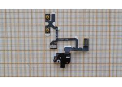 Шлейф для iPhone 4 с разъемом гарнитуры, кнопки громкости, переключатель (на белый)