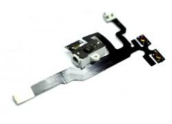 Шлейф для iPhone 4s с разъемом гарнитуры, кнопки громкости, переключатель, микрофон (на белый)