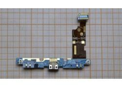 Шлейф для LG E975 Optimus G с разъемом зарядки, микрофон
