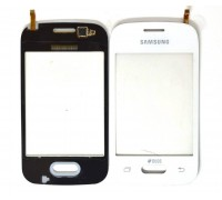 Тачскрин для Samsung G110h Galaxy Pocket (белый) (сенсорное стекло)
