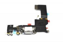 Шлейф для iPhone 5 с разъемом зарядки, разъем гарнитуры, микрофон (на белый) HQ