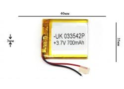 Аккумулятор универсальный 40x35x3 3.7V 700mAh (033542P)