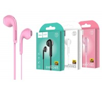 Наушники HOCO M39 Rhyme sound earphones with microphone 3.5мм розовый