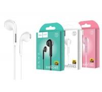 Наушники HOCO M39 Rhyme sound earphones with microphone 3.5мм белый