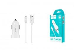 Автомобильное зарядное устройство 2USB 2100mAh HOCO Z23 grand style dual-port car charger set + кабель iPhone 5/6/7 белый