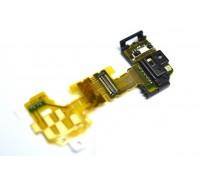 Sony LT25i Xperia V - шлейф с сенсором + коннектор разъема гарнитуры