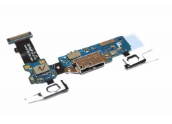 Шлейф для Samsung G900F Galaxy S5 с разъемом зарядки, микрофон, кнопка Home