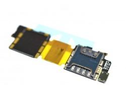 Samsung G900F/ G900H Galaxy S5 - шлейф с коннектором Sim-карты