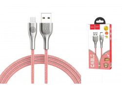 Кабель USB micro USB HOCO U59 Enlightenment charging data cable for Micro (красный) 1 метр