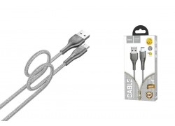 Кабель USB micro USB HOCO U59 Enlightenment charging data cable for Micro (серый) 1 метр