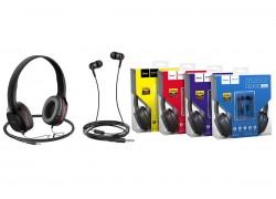 Внешние наушники/гарнитура  HOCO W24 Enlighten wireless headphones красный