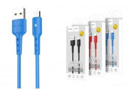 Кабель USB micro USB HOCO X30 Star Charging data cable  (синий) 1 метр