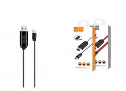 Кабель USB HOCO U29 LED displayed timing type-c charging cable (белый) 1 метр
