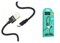 Кабель USB HOCO U55 Outstanding charging data cable for Type-C (черный) 1 метр