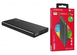 Универсальный дополнительный аккумулятор BOROFONE BT34 PD+QC3.0 power bank (10000 mAh) черный