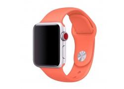 Ремешок силиконовый для Apple Watch 42-44 мм цвет оранжевый  размер SM