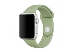 Ремешок силиконовый для Apple Watch 42-44 мм цвет салатовый размер SM