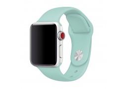 Ремешок силиконовый для Apple Watch 42-44 мм цвет мятный (размер SM)