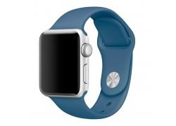 Ремешок силиконовый для Apple Watch 38-40 мм цвет синий деним размер SM