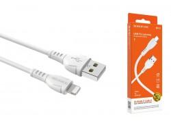 Кабель USB - Lightning BOROFONE BX51, 2,4A белый 1,2м