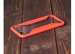 Пластиковая накладка iPhone 7+/8+ X-Серия  прозрачная с красным бампером