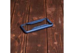 Пластиковая накладка iPhone X X-Серия  прозрачная с синим бампером