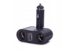 OLESSON 1645 Разветвитель авто (2 гнезда+USB)