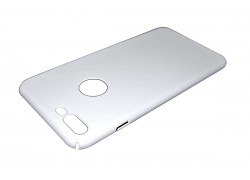 Чехол-накладка ультратонкий пластиковый для Apple iPhone 7 Plus шелковистый White