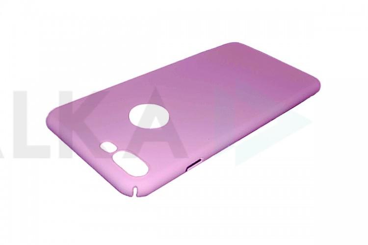 Чехол ультратонкий пластиковый для Apple iPhone 7 Plus шелковистый Pink