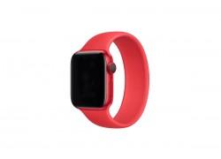 """Ремешок силиконовый для Apple Watch 38-40 мм """"Монобраслет"""" цвет красный размер M6  (156 мм)"""