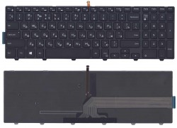 Клавиатура для ноутбука Dell Inspiron 15-3000 черная с подсветкой