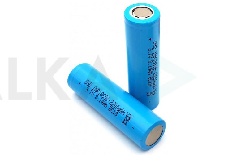 Аккумулятор 18650 (2200mAh, 0.5С/0.5С, 60мОм, 300 циклов) Light Blue