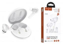 Bluetooth-наушники ES55 Songful TWS wiereless headset HOCO белая