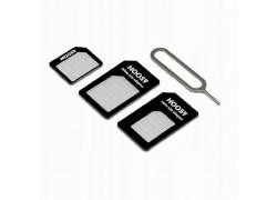 Комплект адаптеров NOOSY на MicroSim/ NanoSim + ключ (3 в 1)