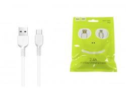 Кабель USB HOCO X13 Type-C cable (белый) 1 метр