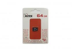 Карта памяти microSDХC MIREX 64 GB UHS-I U1 (class 10) без адаптера