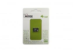 Карта памяти microSDHC MIREX 4 GB (class 10) без адаптера