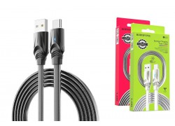Кабель USB BOROFONE BU12 Synergy charging data cable for Type-C (черный) 1 метр