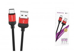 Кабель USB BOROFONE BOROFONE BX28 Dignity charging data cable for Type-C (красный) 1 метр