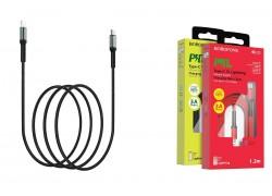 Кабель для iPhone BOROFONE BU22 Superior PD Fast charging data cable for Lightning 1м черный