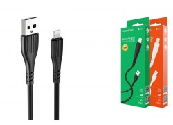 Кабель USB - Lightning BOROFONE BX37, 2,4A черный 1м