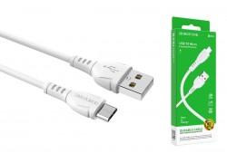Кабель USB - MicroUSB BOROFONE BX51 2,4A белый 1м