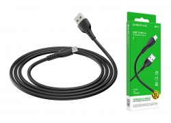 Кабель USB - MicroUSB BOROFONE BX51 2,4A черный 1м