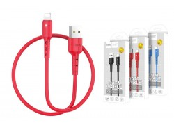 Кабель для iPhone HOCO X30 Star Charging data cable for Lightning 1м красный