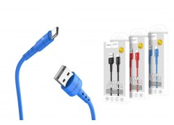 Кабель для iPhone HOCO X30 Star Charging data cable for Lightning 1м синий
